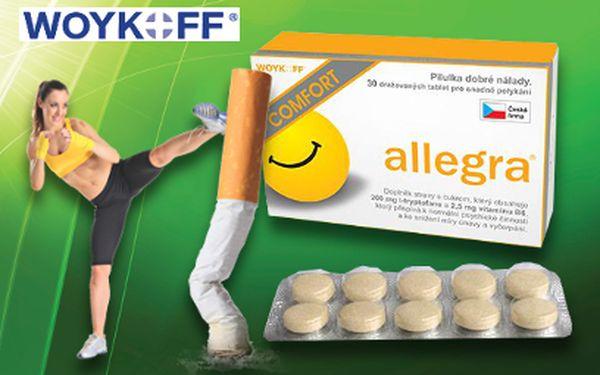 Tablety Allegra COMFORT za 199 Kč pro zvládnutí diety a odvykání kouření!