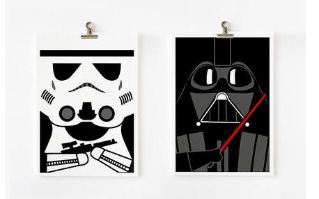 Plakáty A4 Star Wars - Darth Vader a Storm Trooper, 2 ks