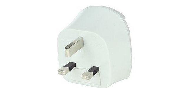 Cestovní adaptér Solight pro použití v UK, bílý