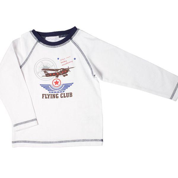 Chlapecké tričko s letadlem - bílé