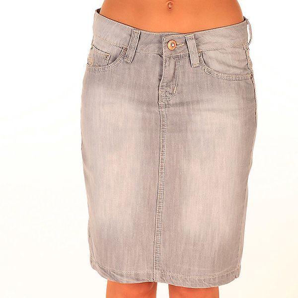 Dámská džínová sukně ke kolenům New Caro