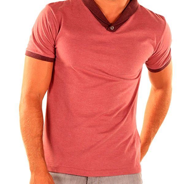 Pánské tričko s kontrastním lemem New Caro