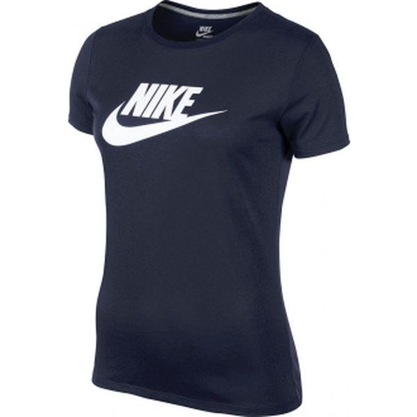 Dámské tričko s krátkým rukávem - Nike TEE-BRAND ICON obsidiánová/šedá/bílá