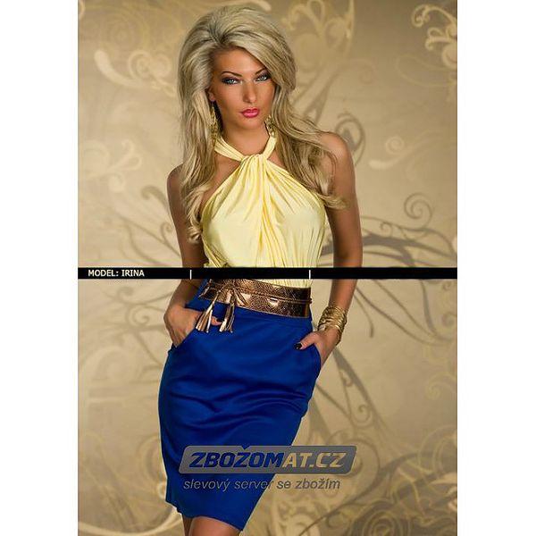 Extravagantní dvoubarevné šaty