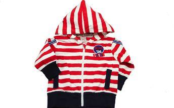 Červená mikinka s kapucí Sailing Club