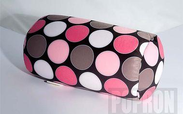 Relax polštář růžový puntík