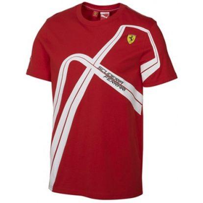 Pánské triko puma sf graphic tee červená