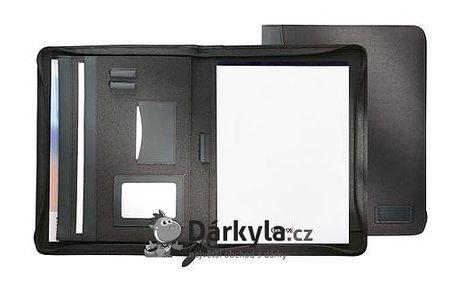 Portfolio A4 na zip - Černá