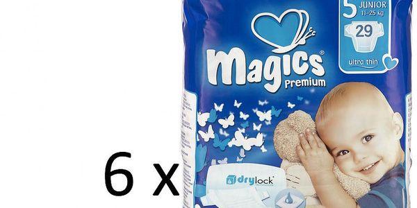 Magics Premium Junior Megapack - 174ks - nejtenčí plenky na trhu se zvýšenou savostí
