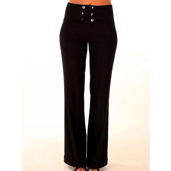Dámské černé kalhoty s širokým pasem Trussardi