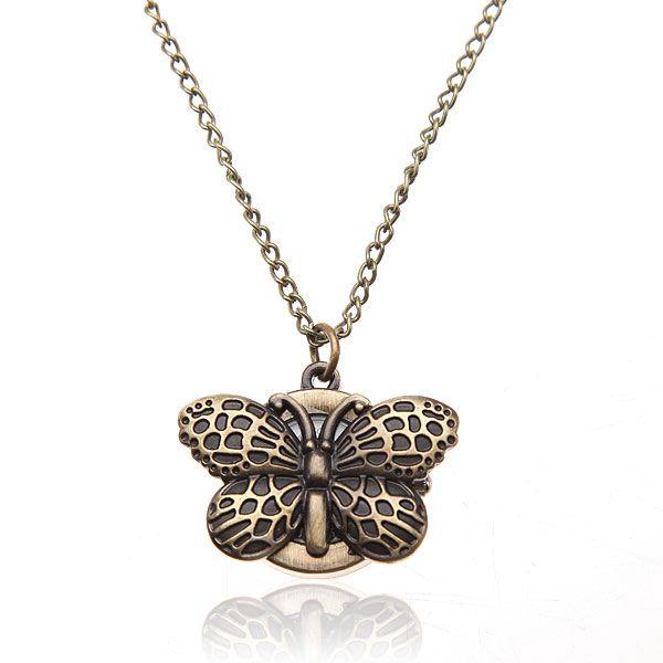 Hodinky na řetízku s motýlkem a poštovné ZDARMA! - 1207084