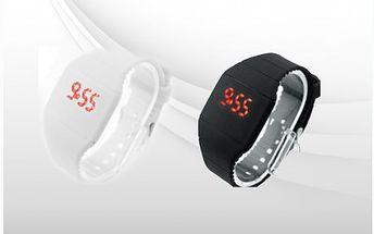 Silikonové unisex LED náramkové hodinky. Krásná novinka v mezi silikonovými hodinkami! Stylový doplněk se slevou 50%! Včetně doručení po ČR zdarma!!