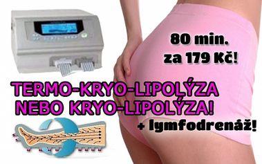 60 min. TERMO-KRYOLIPOLÝZY + 20 min. LYMFODRENÁŽE! Nejúčinnější metoda pro senzačně štíhlé a krásné tělo s viditelnými výsledky! Bezbolestná liposukce ohřátím a následným zmrazením tukových buněk! Centrum Relax Třebešín na Praze 3 u metra Želivského!!!