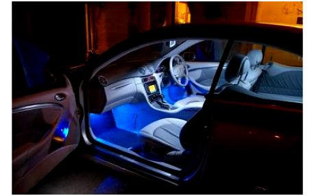 Dekorativní podsvícení interiéru vozu včetně poštovného! Vytuňte svého plechového miláčka barevným led osvětlením! Na výběr z několika barev!