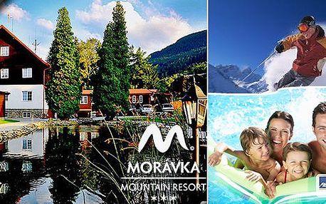 Zimní radovánky a následný relax ve vyhřívaném bazénu s mořskou vodou a v sauně v útulném prostředí Morávka Mountain Resortu*** v srdci Beskyd bude to pravé na zimu!! V ceně dále polopenze, welcome drink a skipas!!