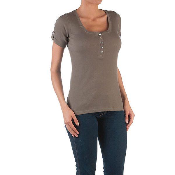 Dámské khaki tričko s knoflíčky Womens Secret