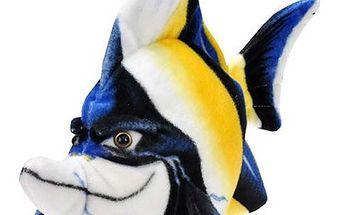 Ryba plyšová 33cm modrá