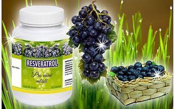 Extrémně účinný a silný přírodní antioxidant Resveratrol za báječnou cenu! Získáte 60 tablet, které jsou vhodné pro lidi s oslabenou imunitou nebo obézní lidi.