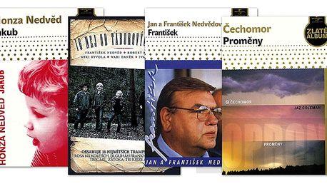 Balíček: Jan a František Nedvědovi + Wabi Daněk + Čechomor, 4 CD digipack