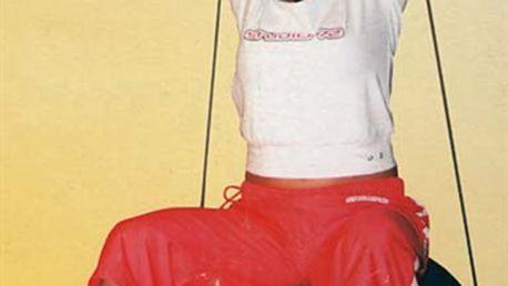 Míč gymnastický s posilovací gumou 55 cm