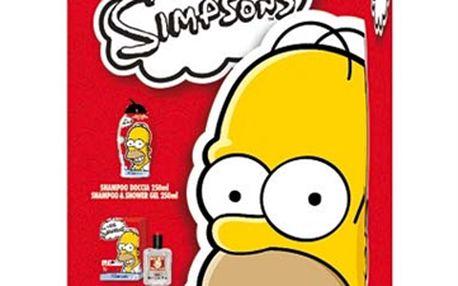 Simpsons - dárkový set - 2v1 šampon a sprchový gel, toaletní voda a kosmetická taštička