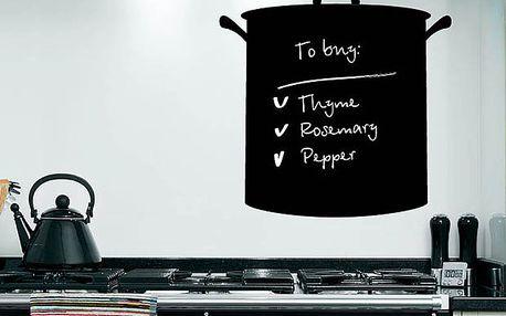 """Psací tabule na vzkazy """"Hrnec"""" - pro každou ženu pohybující se v kuchyni"""