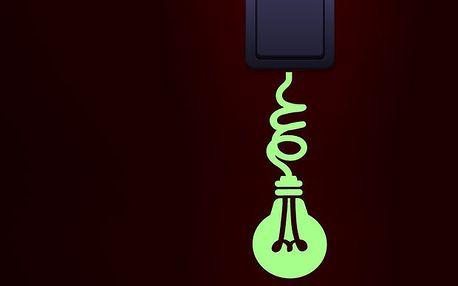 Svítící dekorační samolepka Žárovka