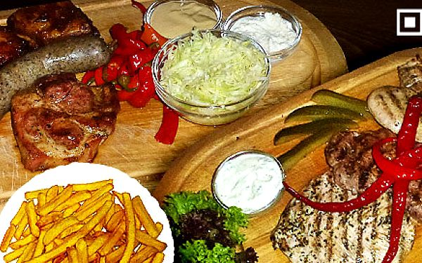 Sedlácké prkno s masitými speciality či Mix Grill