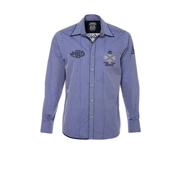 Pánská modře pruhovaná košile M. Conte
