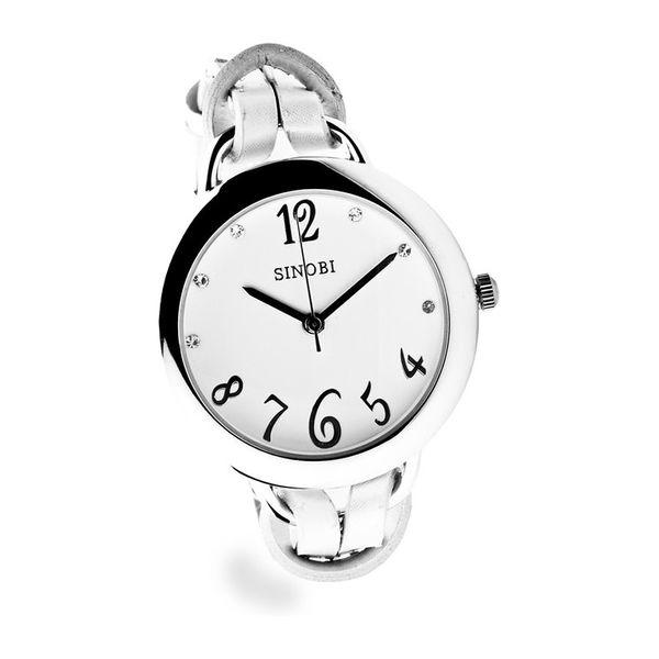 Dámské hodinky Sinobi stříbrné bílý ciferník