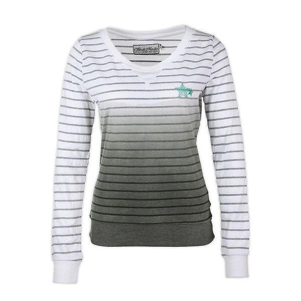 Dámský svetr s šedými proužky Fresh Made