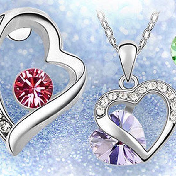 Valentýnská sada šperků Swarovski Elements