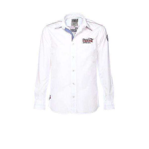 Pánská bílá košile s výšivkou M. Conte