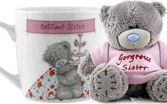 Dárkový set Me to You Dárkový set hrneček a medvídek Gorgeous Sister