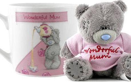 Dárkový set Me to You Dárkový set hrneček a medvídek Wonderful MUM
