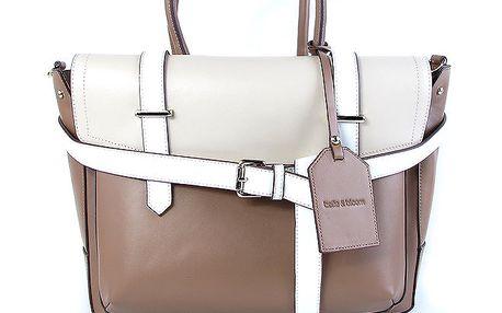 Dámská dvoubarevná kabelka s vyjímatelnou vnitřní taštičkou Belle & Bloom