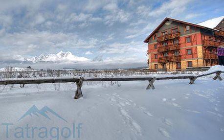 Luxus v apartmánoch Tatragolf Mountain Resort **** pre dvoch na 3 dni!