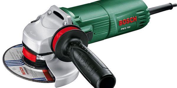 Úhlová bruska Bosch PWS 700. Kompaktní design a nízká hmotnost pro vždy bezpečnou manipulaci.