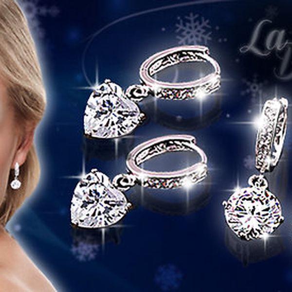 """Okouzlující třpytivé náušnice """"La Diamantina"""""""