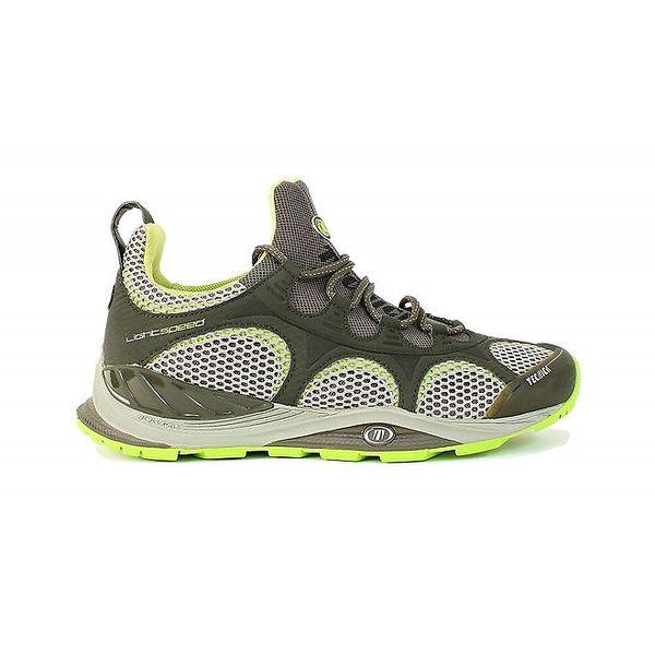 Pánské khaki nízké boty s neonovými detaily Tecnica