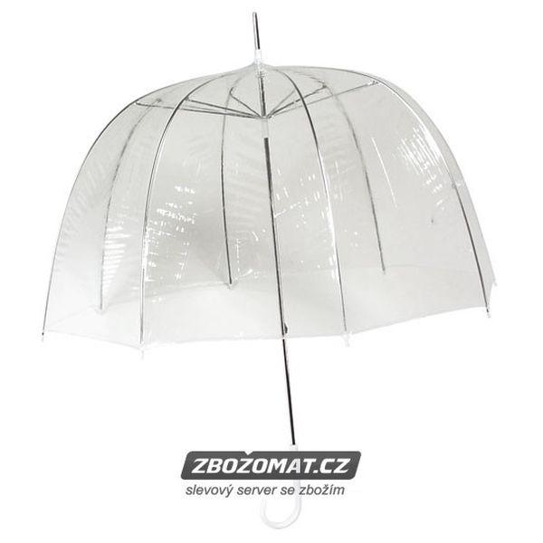 Průhledný deštník Queen - zakryje Vás až po ramena!