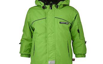 Zelená lyžařská bunda