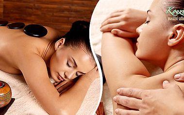 Aroma masáž nebo masáž lávovými kameny