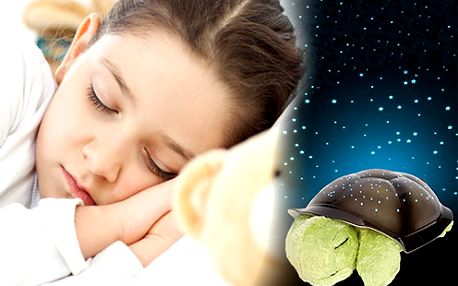 Magická svítící a hrajíci želva. Pro klidný spánek Vašich dětí. Poštovné v ceně.