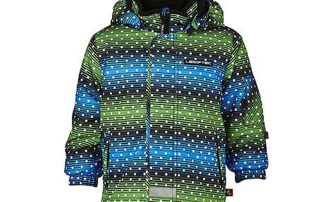 Pruhovaná lyžařská bunda