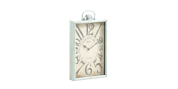 Kovové hodiny, antique green, 57x37x8 cm