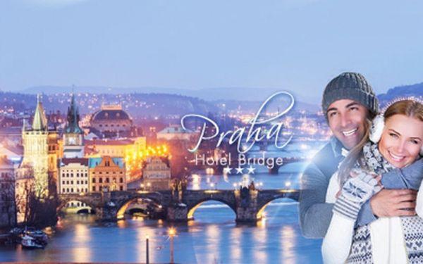 Pobyt v Praze pro 2 OSOBY na 2 DNY SE SNÍDANÍ za 1270 Kč v Hotelu Bridge***! Parkování ZDARMA! Skvělá poloha a dostupnost do centra! Užijte si Prahu se slevou 51%!