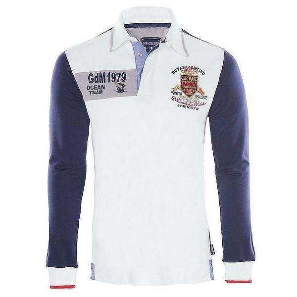 Pánské modrobílé polo tričko Giorgio di Mare
