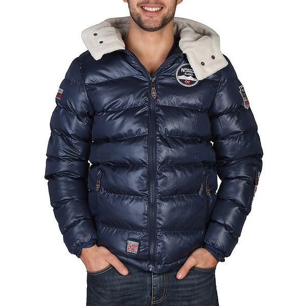 Pánská modrá zimní bunda s kapucí Geographical Norway