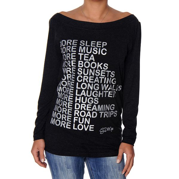 Dámské antracitové tričko s nápisem Giorgio di Mare